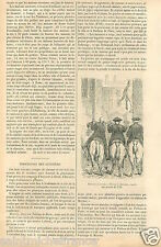 Costumes Huissiers à Cheval Magistrat de Paris GRAVURE ANTIQUE OLD PRINT 1878