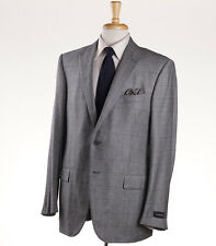 NWT $3095 ERMENEGILDO ZEGNA Gray Glen Check Wool-Cashmere Suit 38 S Fit Milano
