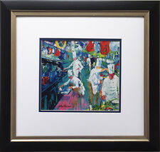 "LeRoy Neiman ""La Grand Cuisine"" Newly CUSTOM FRAMED Art Print CULINARY Kitchen"