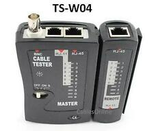 2-Piece Multi-Network Tester for RJ45, RJ11, RJ12, BNC Coaxial, & Modular Cables