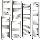 Various Sizes Heated Chrome Curved Towel Rail Radiator
