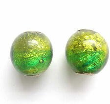 2 Lamp Work Glass Dichroic Beads 20mm Hole 5mm For European Charm Bracelet