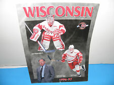 NCAA Wisconsin Badgers Mens Hockey 1996-97 Media Guide