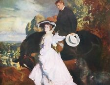 """C.W. FURSE c1895 Oil Painting """"THE RETURN FROM THE RIDE"""" c1930 Book Art Print"""