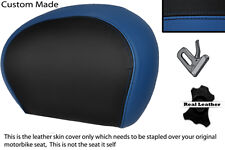 BLACK & R BLUE CUSTOM FITS PIAGGIO VESPA 125 250 300 GTS LEATHER BACKREST COVER