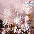 30pcs White Snowflake Christmas Holiday Party Classic Festival Ornaments Decor