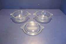 Pyrex Clear Glass #019 - 20 oz. Casserole Dishes - Set of 2 - 1 Lid Only