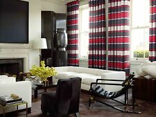 Pimlico Striped Extra Heavy Chenille Lined Curtain, Eyelet Top, now in 6 colours