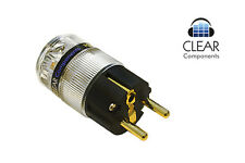 NETZSTECKER HIGHEND - SCHUKOSTECKER POWER PLUG  - 24K VERGOLDET - HIFI AUDIO
