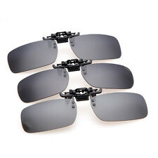 New Clip-on Polarized Lens Day Night Vision Driving Sunglasses Glasses Eyewear