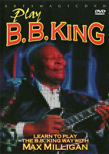 ArtsMagic PLAY BB KING Blues Style GUITAR Lessons Video DVD with Max Milligan