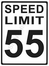 "SPEED LIMIT  55MPH - NEW ALUMINUM SIGN - 9"" X 12""  road and street signs -"