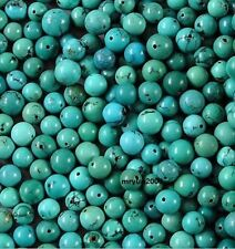 Free LOT 100pcs Jewelry Making Turquoise Round Loose Beads Strand Gemstone 6MM