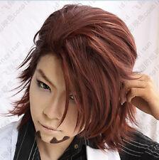 30 Tiger&Bunny Kotetsu T.Kaburagi Brown short styled Cosplay Wig free wig cap
