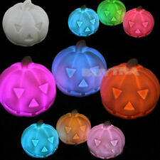 Colorful Led Pumpkin Party Decoration Prop Bedside Table Light Halloween Lamp TS