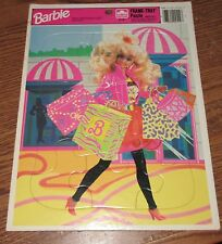 Vintage Frame Tray Puzzle BARBIE Doll Shopping Golden Books 3-7yr 4512B-7 Mattel