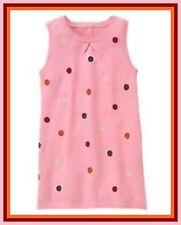 NWT Gymboree Big Girl sz 12 PURRFECT AUTUMN Pink Dot Sweater Jumper Dress