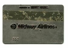 Vintage Airline Ticket Validation  Plate MIDWAY AIRLINES  travel agent