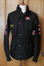 rare Mens Barbour Souvenir Steve McQueen Large XL black waxed biker jacket £349