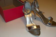 Candie's Sliver Caveronique Metallic High Heels Size 8 NEW Shoes Women's