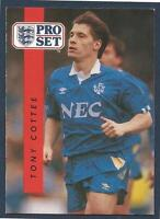 PRO SET 1990/91- #082-EVERTON & ENGLAND-WEST HAM UNITED-TONY COTTEE