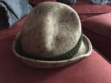 Women's Berghut Fedora Style Wool Hat - Marbled Gray