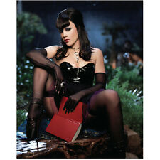 Pink Seated Outside in Black Rocking Hair Holding Book 8 x 10 Inch Photo