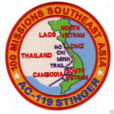 AC-119 STINGER PATCH, 100 MISSIONS SOUTHEAST ASIA DURING THE VIETNAM WAR       Y