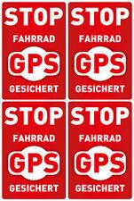 4x GPS SICHERUNG FAHRRAD AUFKLEBER SICHERHEIT DIEBSTAHLSCHUTZ TRACKER BIKEFINDER