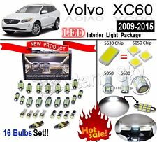 16 Bulbs Xenon White LED Interior Light Kit Package For Volvo XC60 2009-2015