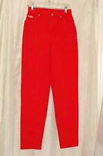 ESCADA Margaretha Ley Red Cotton Pants Size 38 Made in Italy