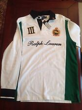 NEW Polo Ralph Lauren long sleeve white shirt  Snow Polo Challenge Cup ,size L