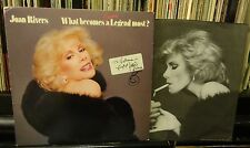 autograph JOAN RIVERS SIGNED What Becomes a Legend Most? drew smiley face on LP
