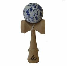 Blue/White Butterfly and Flower Freestyle Kendama