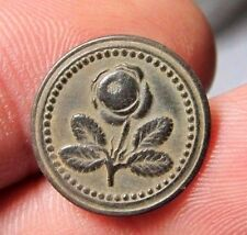 AWESOME OLD MEDIEVAL SPANISH COLONIAL ROYAL FLOWER BUTTON 15-16 TH CENTURY