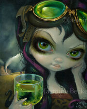 Absinthe Goggles Steampunk Fairy Jasmine Becket-Griffith CANVAS PRINT gothic art