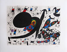 "JOAN MIRO ""HOMAGE TO JOAN PRATS"" Signed Limited Edition Lithograph"