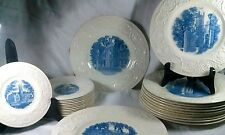 Smith College Wedgwood Circa 1932 Blue Collector Plates Up To 24 Assorted Plates