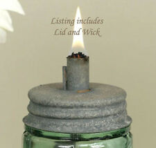 Mason Jar Oil Lamp LID ~ Great for Outdoor Gatherings