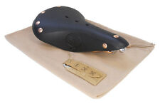 Genuine Leather Gyes GS-15U with Copper Rails Black Bicycle Saddle Seat