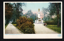 1904-09 boys on bench statue Washington Place Rochester New York postcard