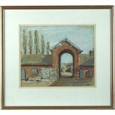 Original Signed Framed Pastel Painting South Model Farm Buildings Devon Ricketts