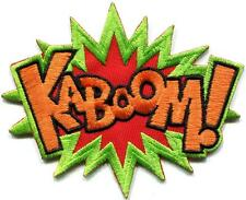 KABOOM! superhero comics retro fun embroidered applique iron-on patch S-1192