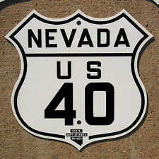 Nevada US route 40 highway road sign Lincoln Reno Donner San Francisco