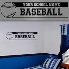 """Personalized Baseball Wall Decal. Baseball Wall Sticker, 48"""" x 12"""""""