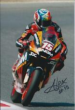 Alex De ANGELIS SIGNED NGM MOTO GP Autograph 12x8 Photo MOTO2 AFTAL COA