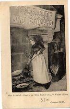 CPA  Mont St-Michel - Enseigne de l'Hotel Poulard ainé,par Wagner Robion(209391)