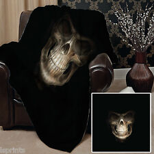 GRIM REAPER DESIGN SOFT FLEECE BLANKET COVER THROW BLANKET BED L&S PRINTS