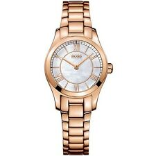 NEW HUGO BOSS 1502378 LADIES ROSE GOLD AMBASSADOR WATCH - 2 YEAR WARRANTY
