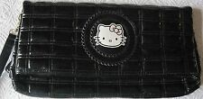 Hello Kitty Victoria Couture Bag Clutch Black Quilted Bag with Small Mirror & C